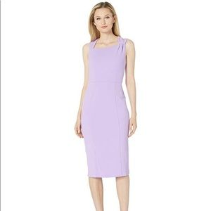 Donna Morgan Sleeveless Asymmetric Neck Dress